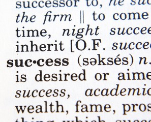 "The word ""success"""