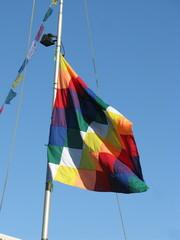 Drapeau de toutes les couleurs. Rainbow flag.
