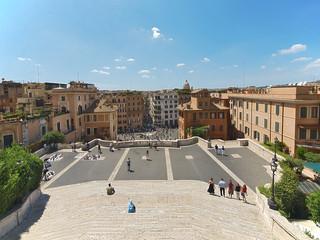 strassen von rom, blick von der spanische treppe