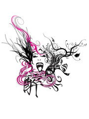 abstract design artwork t-shirt