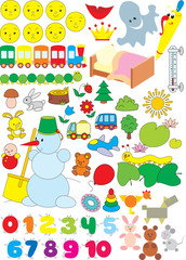 Simple objects for kindergarten