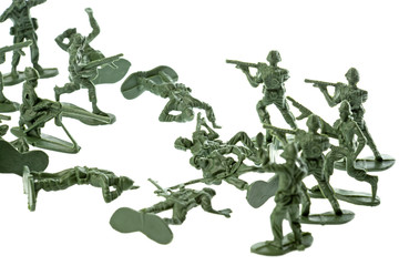 Isolated image of toy soldiers.