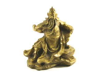 Kuan Kung the Chinese God of War and Prosperity Isolated