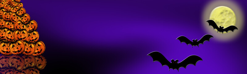 Illustration of Halloween for web banners or graphics