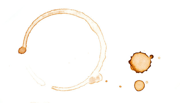 Coffee stain on a white background