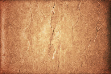 Photo sur Plexiglas Cuir old brown crumpled background