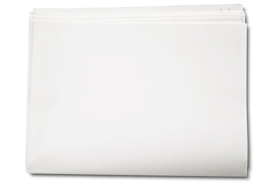 a  blank newspapers on white - with clipping path