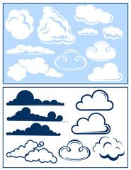 Cloud set, vector illustration