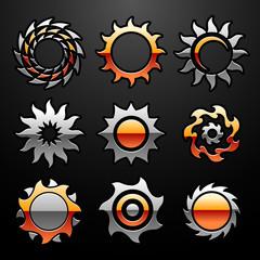 Vector Sun Logo Set