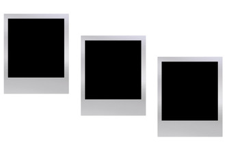 A image showing three polaroid with a black centre