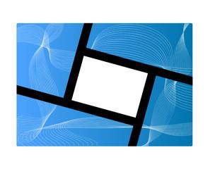cornice su sfondo astratto azzurro