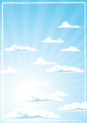 Sky and clouds, vector illustration