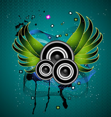 A beautiful musical abstract vector