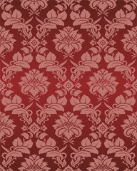 Damask wallpaper executed in a vector