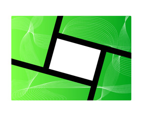 cornice su sfondo astratto verde