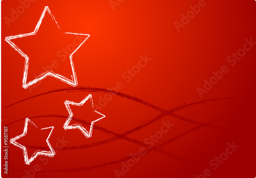 Sfondo Rosso Con Stelle Natale Stock Image And Royalty Free Vector