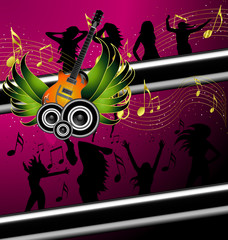 A musical party illustration