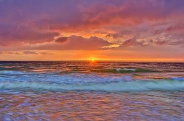 orange summer cloudscape