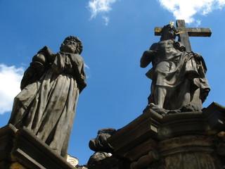 Skulpture on the Karlov bridge in Prague Czech