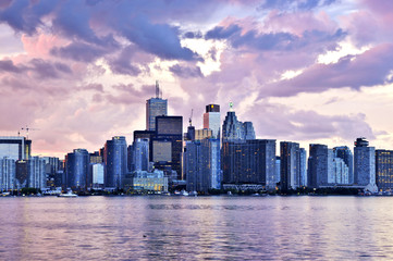 Papiers peints Toronto Scenic view at Toronto city waterfront skyline at sunset