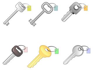 Six different keys