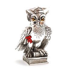 Canvas Prints Owls cartoon Silver statuette wisdom owl