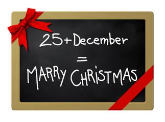Marry Christmas blackboard
