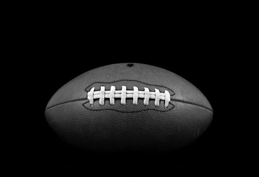B&W Front View of Football