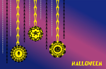 the halloween vector bones pumpkin and ghost
