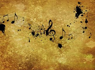 Vintage musical background design