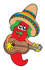 Maxican chilli guitar player