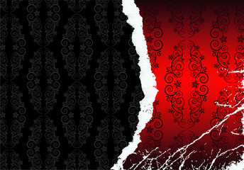 Background Classic elegant design Grunge Red and Black