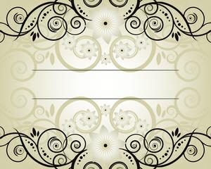 Vintage frame Elegant  Beige  Symmetric