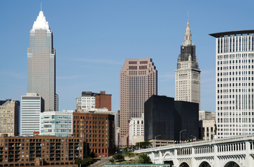 Buildings of downtown Cleveland, Ohio.