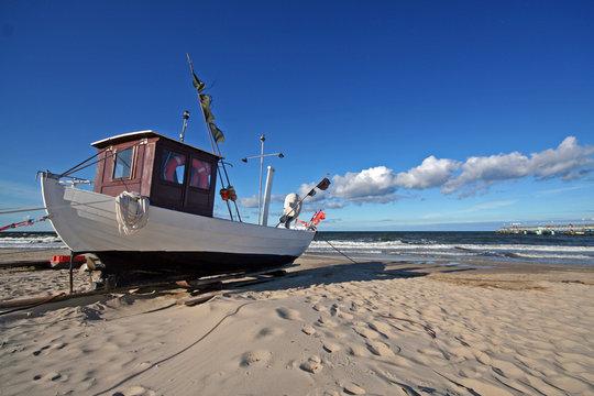 Usedom-Fischerboot in Koserow