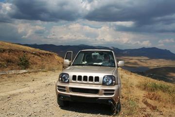 Jeep on grassland
