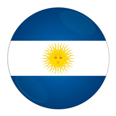 Abstract illustration: button with flag from Argentina country.