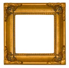 Bright gold antique frame