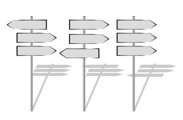 blank signpost set