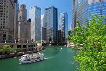 Self adhesive Wall Murals Chicago Chicago River