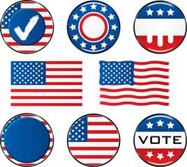 Vote Icon Set. Easy To Edit Vector Image.