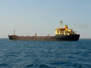 Tanker ship on the Crimea Black Sea