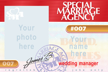 Identity card Special Marriage Agency 007