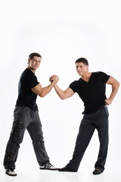 Two young muscular men