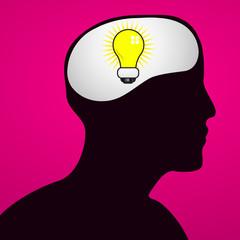 Man with genius idea
