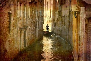 Postcard from Italy. - Gondola - Venice.