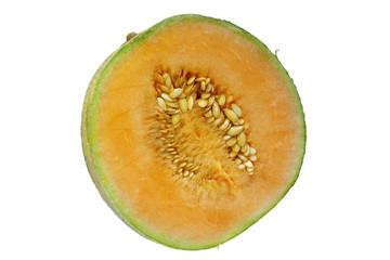 Melone aufgeschnitten isoliert
