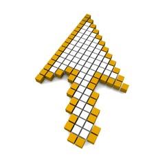 Poster Pixel Computer arrow cursor 3d rendered illustration