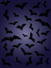 halloween backgrounds. bats silhouette