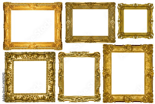 antique frames collection isolated on white background antique picture87 white